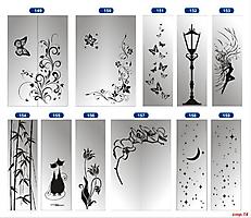 Пескоструйные рисунки для зеркала/стекла